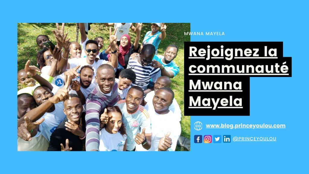 La communauté Mwana Mayela a pour but de discuter de sujets tels que la création d'entreprise, la gestion de projet et d'autres thèmes connexes.